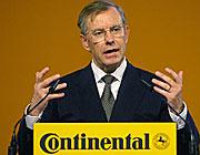 Gegen eine Continental-Übernahme: Vorstandschef Manfred Wennemer
