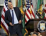 Arbeitet an einem Rettungsplan: US-Finanzminister Henry Paulson