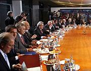 Gesprächsmarathon: Der Konjunkturgipfel im Kanzleramt dauerte sieben Stunden
