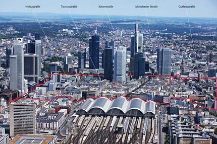 Die Bankenmetropole Frankfurt.