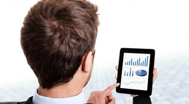 Unternehmer, iPad, Statistik, Bilanz