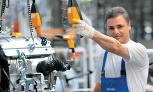 Waschmaschinen-Produktion bei Miele in Gütersloh.