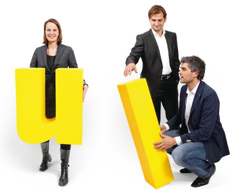 Laura Blindow (stellvertretende Vertragsleiterin), Andreas Kurz (leitender Redakteur) und Ole Jendis (Verlagsleiter)