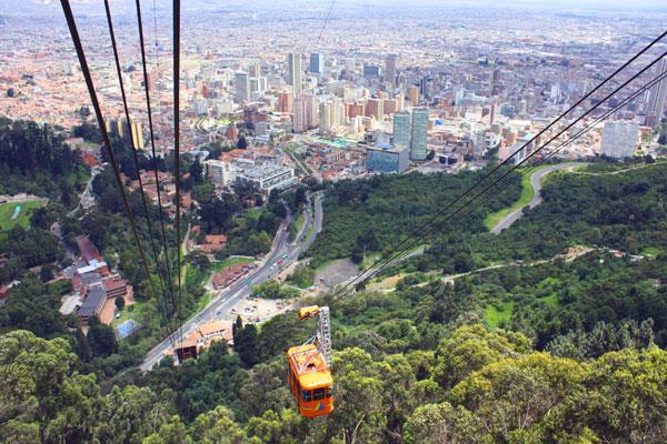 Blick auf Bogotá in Kolumbien