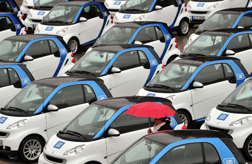 Wagen des Carsharing- Anbieters car2go