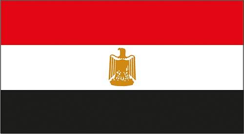 Die Flagge Ägyptens