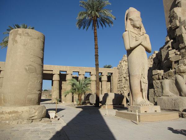 Der Tempel von Karnak in Luxor, Ägypten