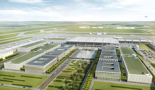 Simulation des Hauptstadtflughafens BER