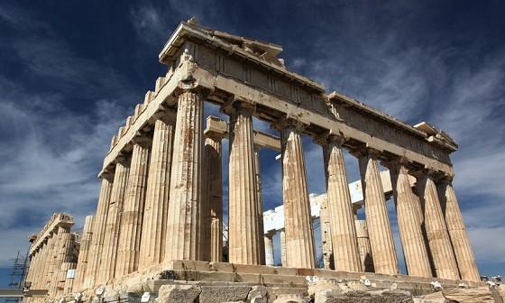 Die Acropolis in der griechischen Hauptstadt Athen