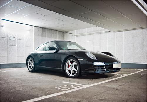 Der Porsche von Lothar Leonhard, Geschäftsführer der Werbeagentur Ogilvy & Mather in Frankfurt am Main