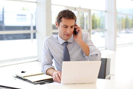 telefonieren, Laptop