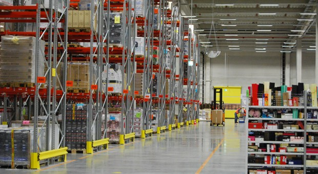 Das Logistikzentrum von Amazon in Bad Hersfeld