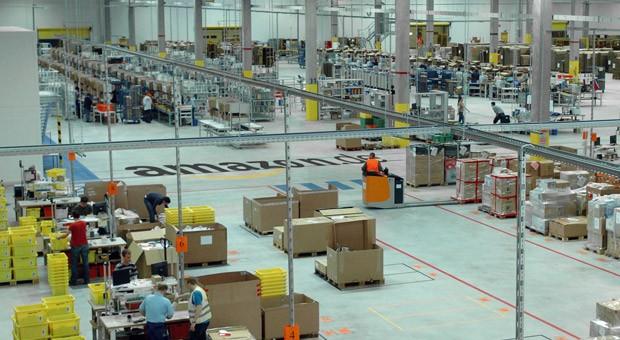 Das Logistikzentrum von Amazon in Leipzig