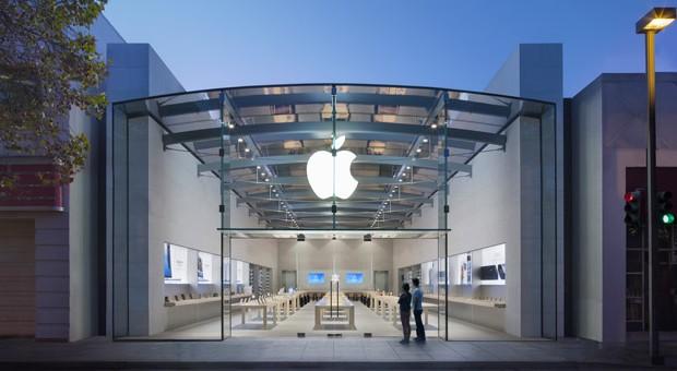Der Apple Store in Palo Alto, Kalifornien