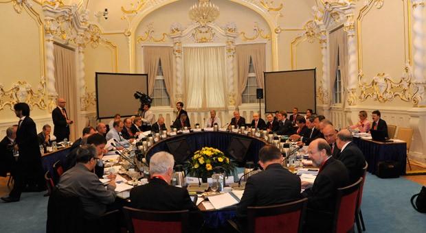 Sitzung des Notenbank-Rates im slowakischen Bratislava