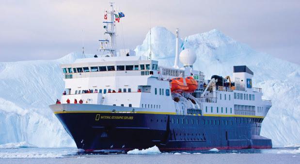 Die National Geographic Explorer fährt für Reperaturen im Mai die Lloyd Werft in Bremerhafen an.