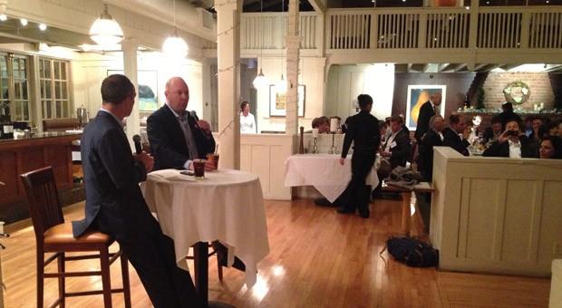 Netscape-Gründer Marc Andreessen (rechts am Tisch) im Interview mit Christoph Keese (Axel Springer).
