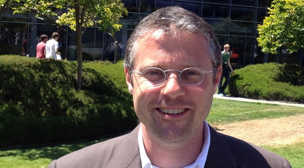 Gunnar Berning auf dem Google-Gelände im Silicon Valley