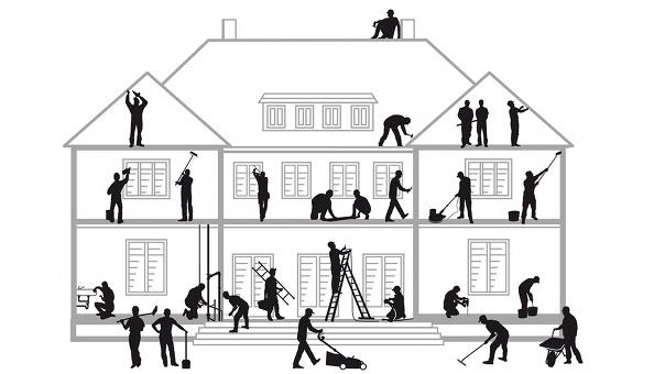 Haussanierung steht bei Immobilienbesitzern derzeit hoch im Kurs