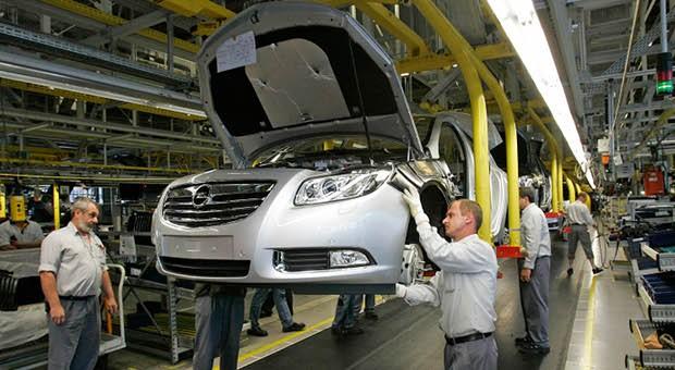Produktion im Opelwerk Rüsselsheim