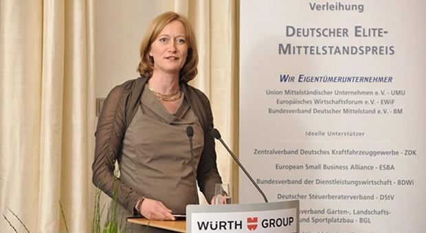 Die Grünenpolitikerin Kerstin Andreae bei der Verleihung des 20. Deutschen Elite-Mittelstandspreises in Berlin