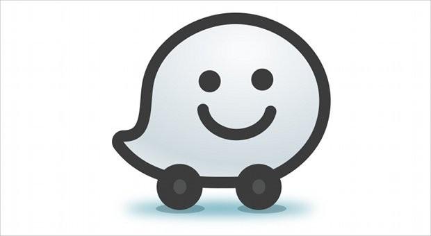 Das Logo von Waze