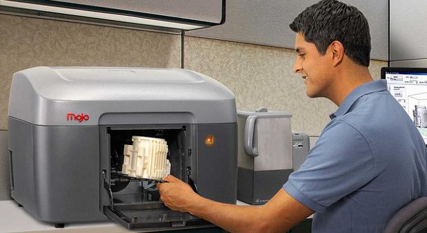 Ein 3D-Drucker.