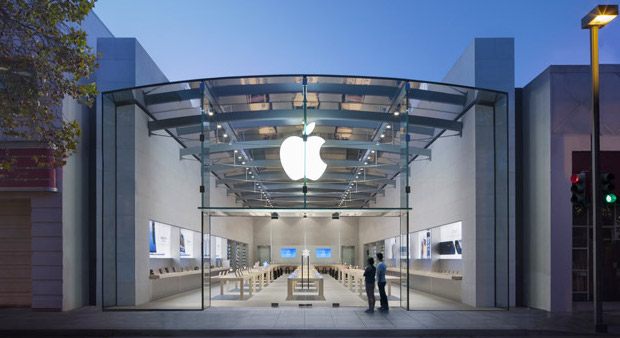 Der Apple Store in Palo Alto, Kalifornien