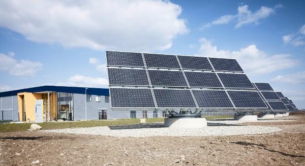 Eine Solaranlage.