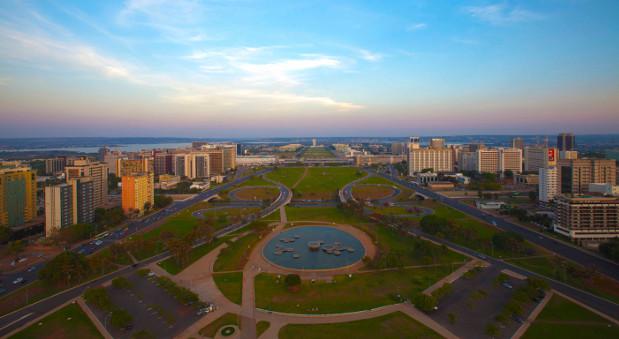 Die brasilianische Hauptstadt Brasilia.