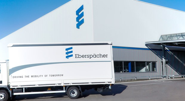 Das Werk von Eberspächer für Fahrzeugheizungen in Esslingen bei Stuttgart