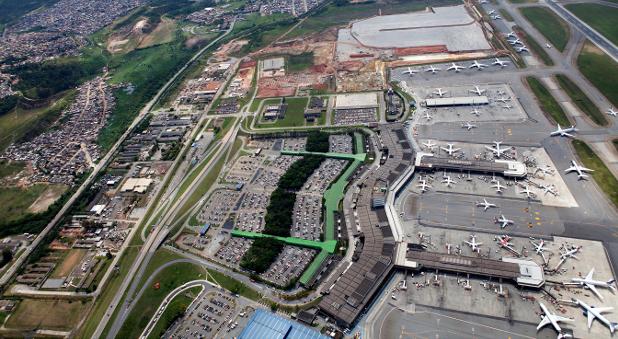 Der brasiliansische Guarulhos International Airport ist der passagierstärkste Flughafen in Lateinamerika.