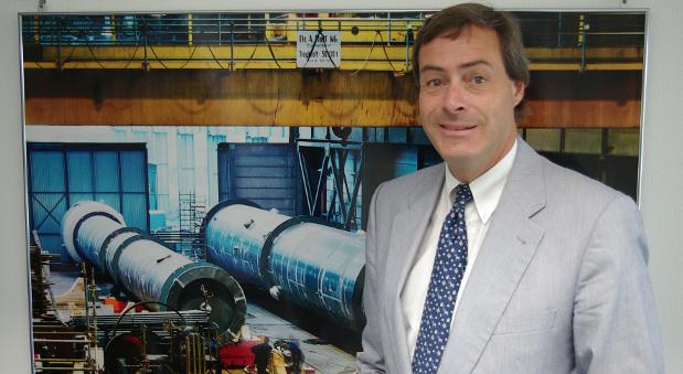 Ingo Kramer in der Zentrale seines Unternehmens.