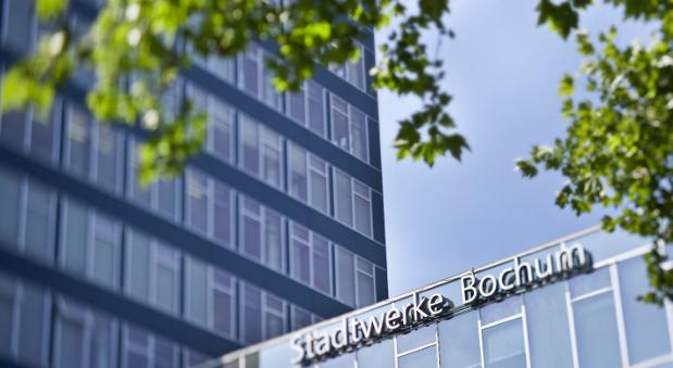 Das Verwaltungsgebäude der Stadtwerke Bochum.