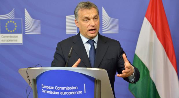 Der ungarische Ministerpräsident Viktor Orbán bei einer Rede vor der EU-Kommission im Februar 2013.