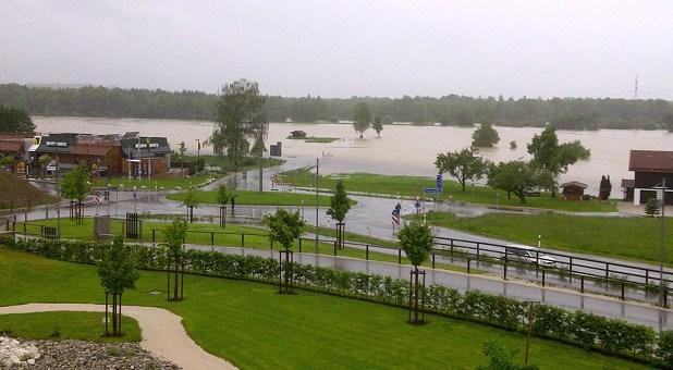 Hochwasser in Grabstätten