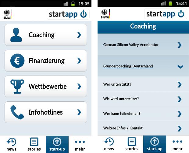Gründer-App des BmWi