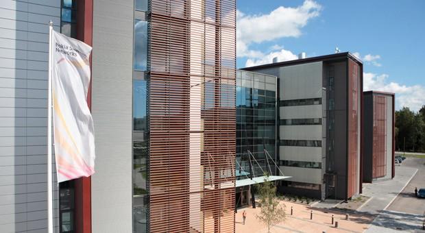 Die Zentrale von Nokia Siemens Networks in Espoo, Finnland