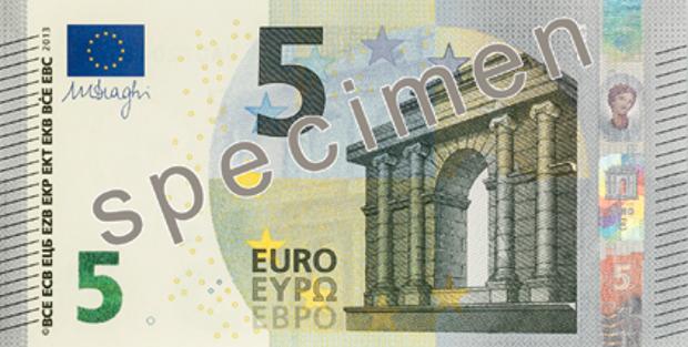Seit Mai im Umlauf: Der neue Fünf-Euro-Schein