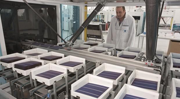 Produktion bei Conergy in Frankfurt an der Oder