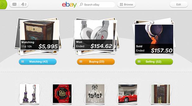 Ebay-Verkaufsplattform auf dem iPad