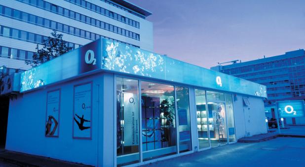 Ein O2-Shop in München.