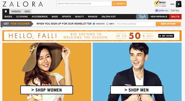 Zalando auf philippinisch: Shoppen mit Zalora