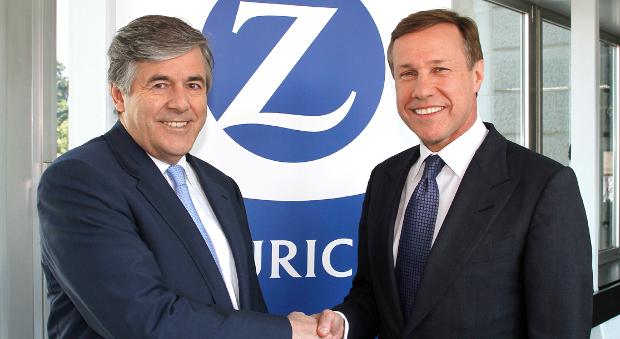 Josef Ackermann und Zurich-CEO Martin Senn im Jahr 2012.
