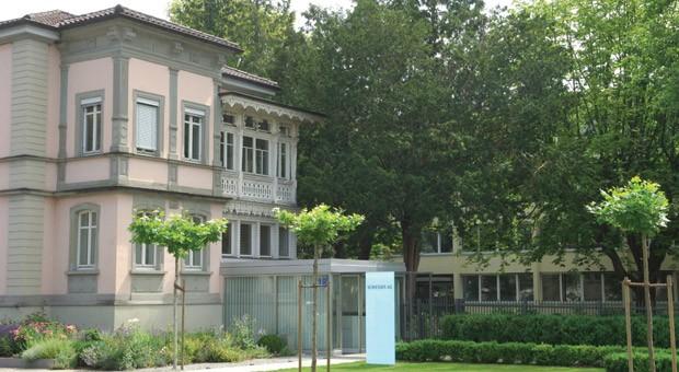Die Unternehmenszentrale von Schiesser in Radolfzell am Bodensee.
