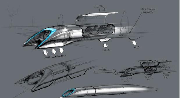 Skizzen vom Hyperloop.