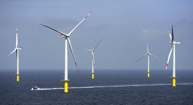Der Nordsee-Windpark Riffgat nahe der Insel Borkum.