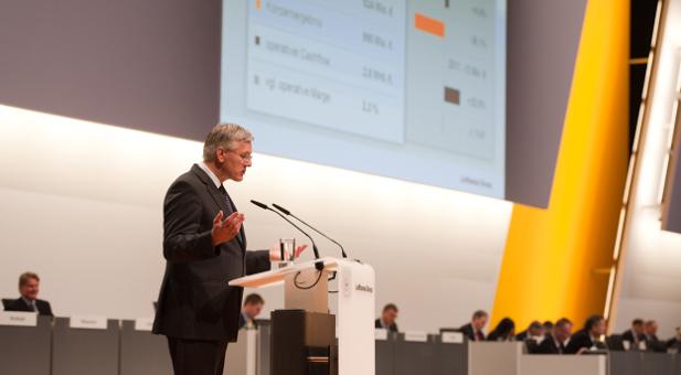 Christoph Franz spricht auf der Lufthansa Hauptversammlung 2013