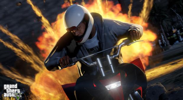 Eine Szene aus dem Spiel GTA V.
