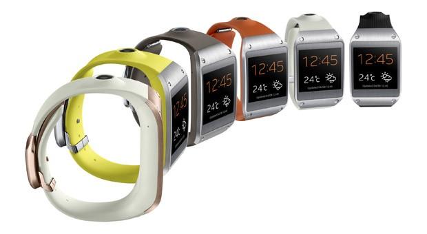 Die neue Smartwatch Samsung Galaxy Gear gibt es in verschiedenen Farben.